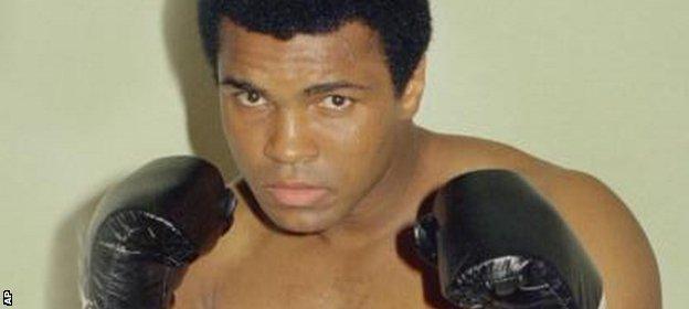 Muhammad Ali was a three-time world heavyweight champion