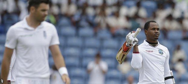 Samuels scored 103 from 228 balls