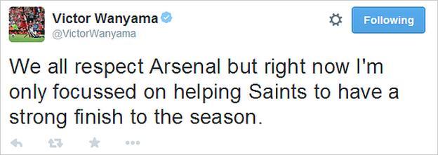 Victor Wanyama tweet