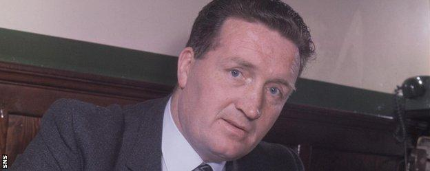 Jock Stein in his early days as Celtic manager