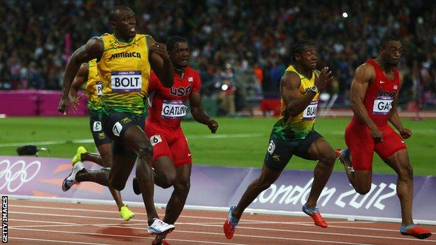 Usain Bolt Tyson Gay