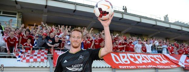 Adam Rooney's season started well with a hat-trick against FK Daugava Riva in Europa League qualifying