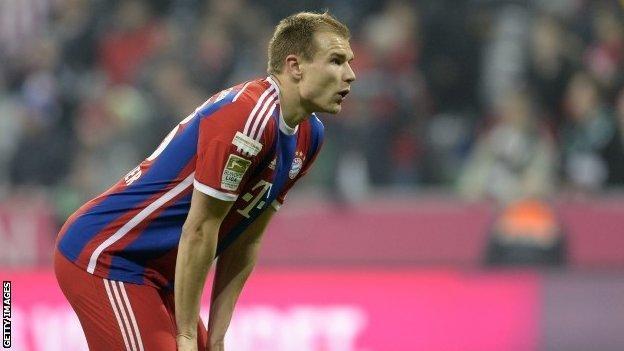Bayern Munich defender Holger Badstuber