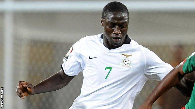 Zambia striker Jacob Mulenga