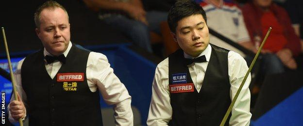 John Higgins and Ding Junhui
