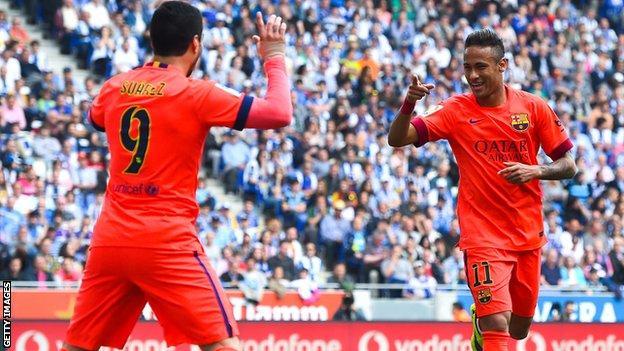 Luis Suarez, Neymar