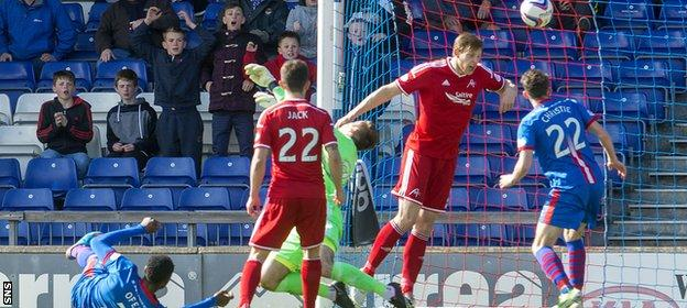 Edward Ofere (grounded) steered Inverness Caledonian Thistle in front