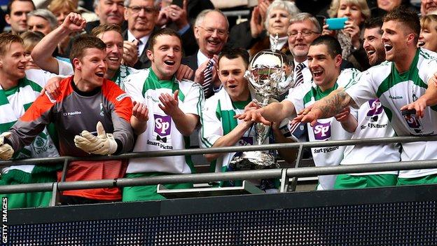 North Ferriby players celebrate at Wembley