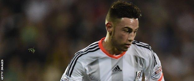 Fulham forward Patrick Roberts