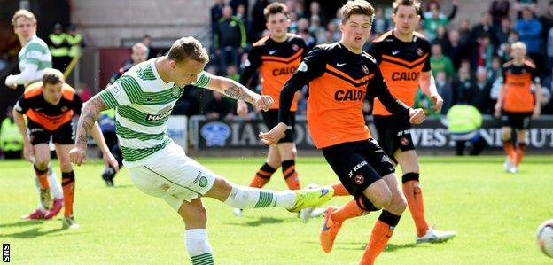 Leigh Griffiths opens the scoring for Celtic
