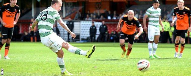 Leigh Griffiths completes the scoring with a penalty