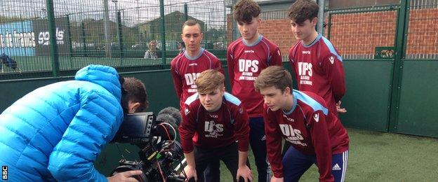 FA People's Cup team being filmed