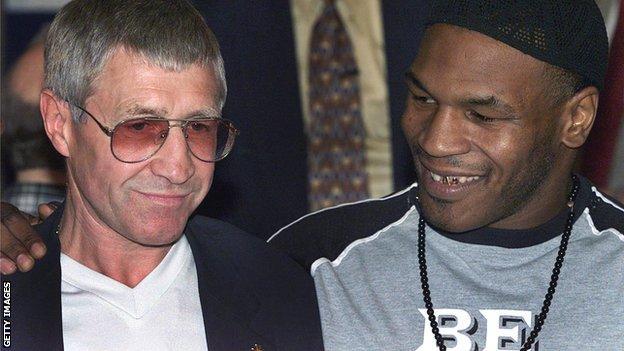 Ken Buchanan and former world heavyweight champion Mike Tyson