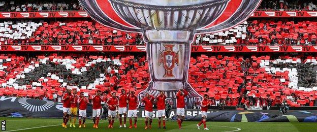 Benfica fans before kick-off