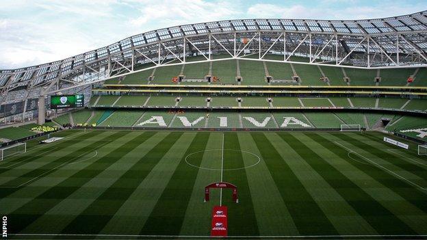 The training match will be played at the Aviva Stadium