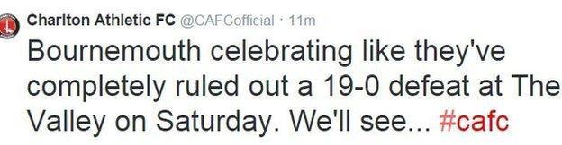 Charlton tweet