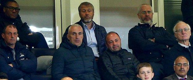 Roman Abramovich (top centre), Michael Emenalo (top right) and Bruce Buck (middle right) were in attendance