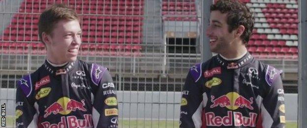 Daniil Kvyat and Daniel Ricciardo
