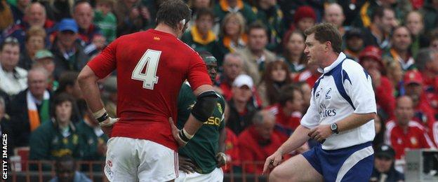 Stuart Dickinson in action during the 2009 British and Irish Lions Series