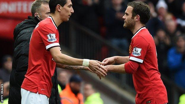 Angel di Maria (l) and Juan Mata