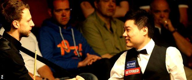 Judd Trump and Ding Junhui