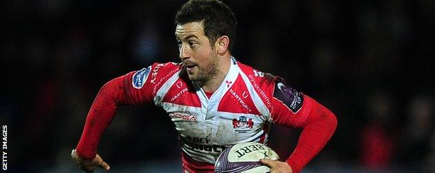 Greig Laidlaw in action for Gloucester
