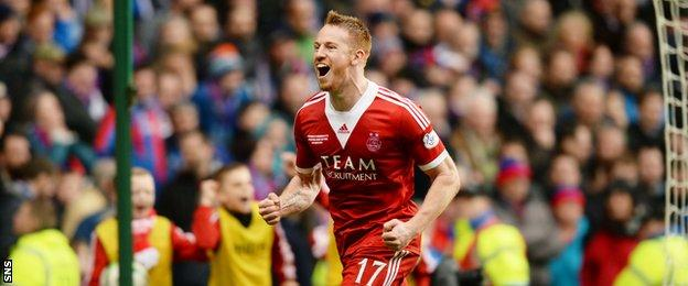 Aberdeen striker Adam Rooney has also been nominated for PFA player of the year after scoring 27 goals this term
