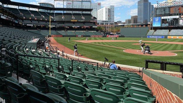 Baltimore Orioles' Camden Yards stadium