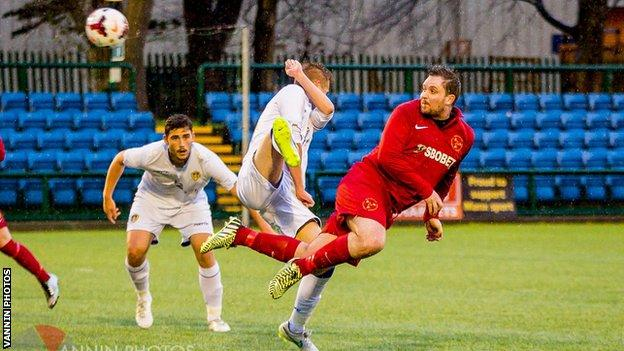 Johnny Myers netted the Isle of Man's equaliser at the Bowl in Douglas