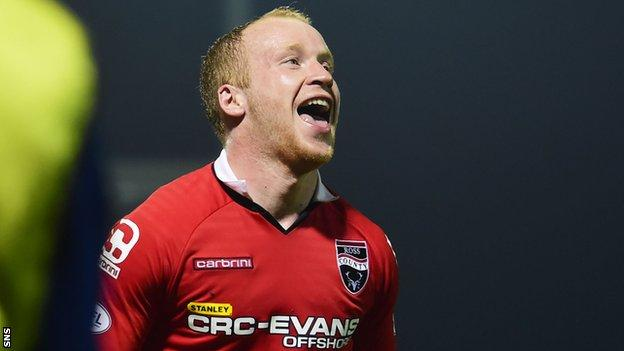 Ross County striker Liam Boyce