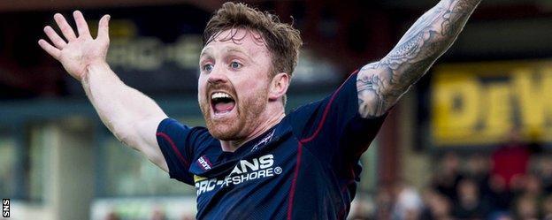 Ross County striker Craig Curran