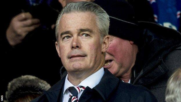 Rangers interim chairman Paul Murray