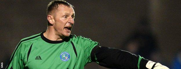 """43-year-old goalkeeper Rab Douglas is """"magnificent"""", according to Dick Campbell"""