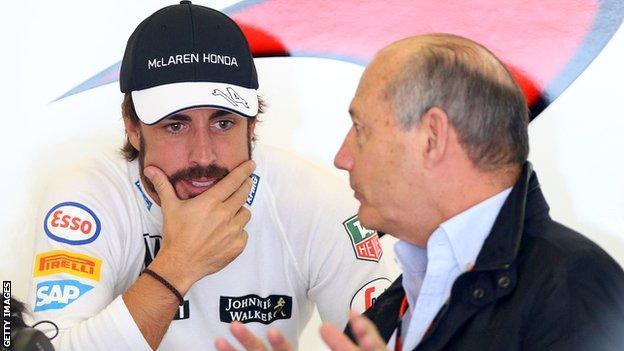 Fernando Alonso and Ron Dennis