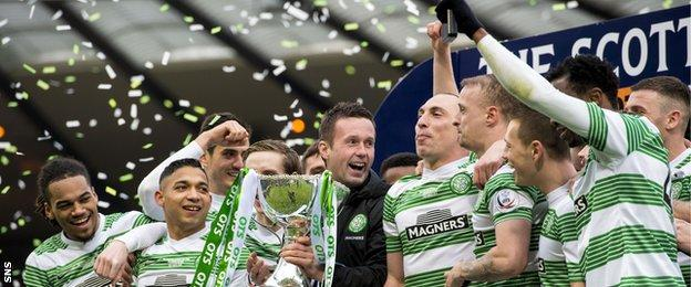 Celtic defeated Dundee United in the League Cup final in March