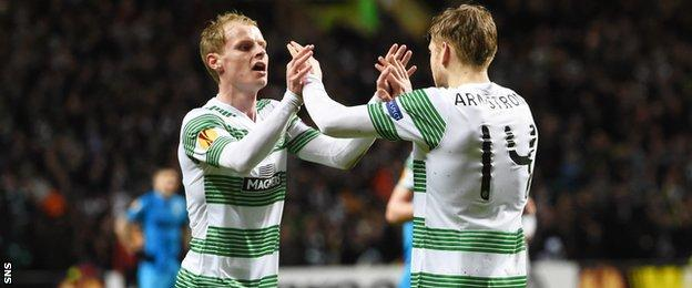 Gary Mackay-Steven (left) and Stuart Armstrong arrived from Dundee United in January