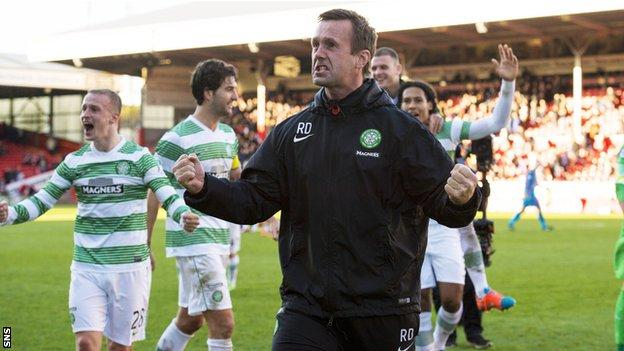 Ronny Deila has won the league title in his first season at Celtic
