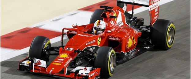 Ferrari's 2015 car in action