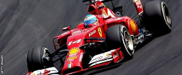 Ferrari's 2014 car in action