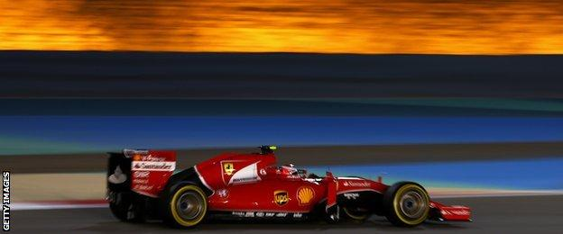 Sebastian Vettel in action at the Bahrain Grand Prix qualifying sessions
