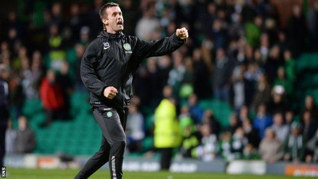 Ronny Deila has led his team 11 points clear at the top of the Scottish Premiership