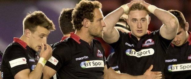 Disappointment for Edinburgh trio Tom Brown, Andries Strauss and Dougie Fife at full-time