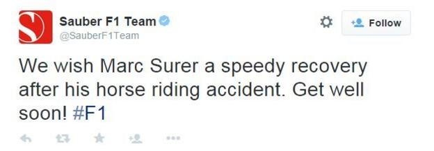 Sauber tweet