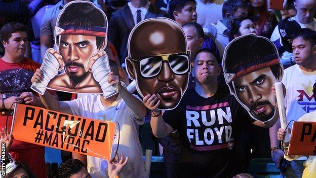 Fans at Mayweather v Pacquiao weigh-in