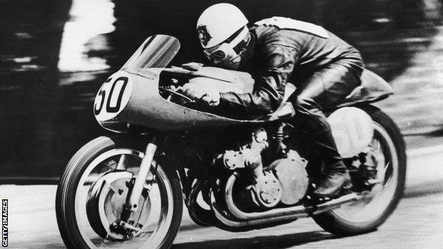 Motor-racing champion Geoff Duke