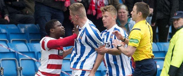 Nigel Hasselbaink and Kilmarnock's Lee Ashcroft clash