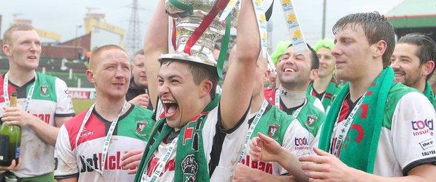Glentoran's victory over Portadown was the east Belfast club's 22nd Irish Cup triumph