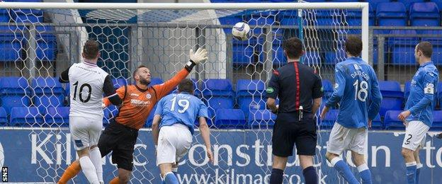 Aaron Doran scores for Inverness Caledonian Thistle against St Johnstone