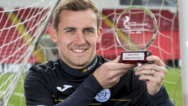 James Fowler poses with his trophy