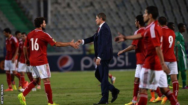 Al Ahly coach Juan Carlos Garrido